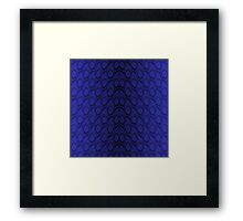 Midnight Blue Python Snake Skin Reptile Scales Framed Print