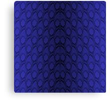 Midnight Blue Python Snake Skin Reptile Scales Canvas Print