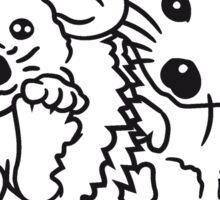 2 freunde team paar brüder pärchen liebe sitzend rund kind baby nachwuchs süßer kleiner niedlicher igel  Sticker