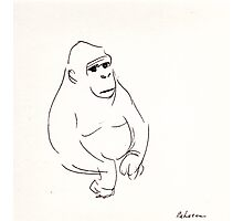Gorilla sketch - at the zoo Photographic Print