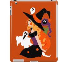 Witch Holding a Pumpkin iPad Case/Skin