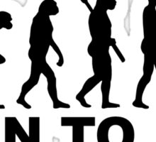 Evolution Born to run Sticker