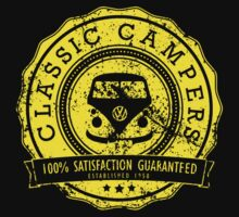 Retro Badge Yellow VW Classic Grunge by splashgti