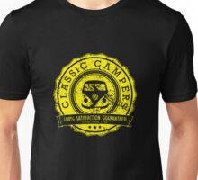 Retro Badge Yellow VW Classic Grunge Unisex T-Shirt