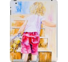 Bear on the Stairs iPad Case/Skin