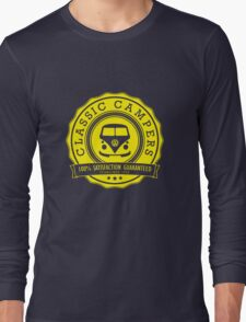 Retro Badge Yellow VW Classic Long Sleeve T-Shirt
