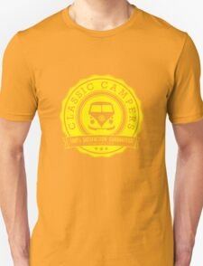 Retro Badge Yellow VW Classic T-Shirt