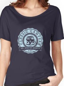 Retro Badge Pale Blue VW Classic Grunge Women's Relaxed Fit T-Shirt