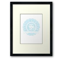 Retro Badge Pale Blue VW Classic Grunge Framed Print