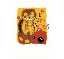 Le Chat Autobus - Catbus Art Print