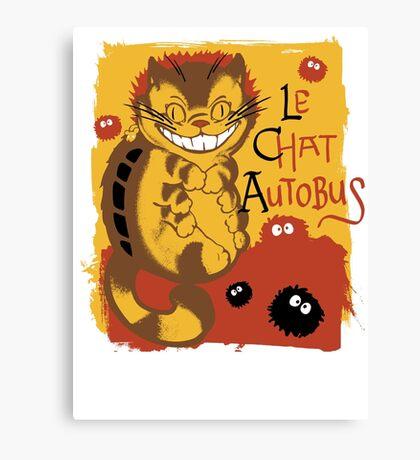 Le Chat Autobus - Catbus Canvas Print