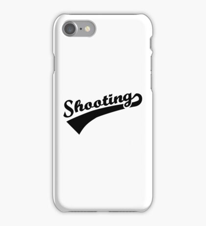 Sports shooting iPhone Case/Skin