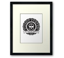 Retro Badge Black VW Classic Framed Print