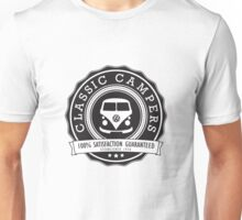 Retro Badge Black VW Classic Unisex T-Shirt