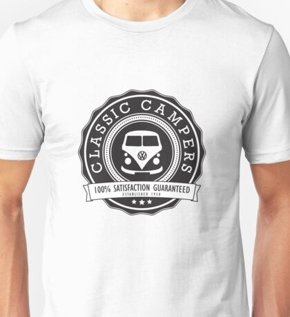 Retro Badge Black VW Classic Unisex T-Shirt