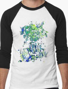 Abstract glitch design Men's Baseball ¾ T-Shirt