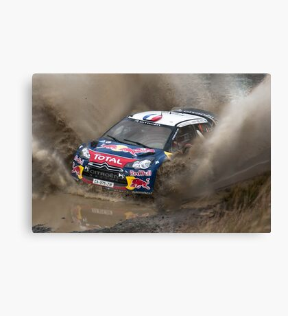 World Rally Car - Sebastien Loeb Canvas Print