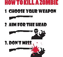 How to kill a zombie Photographic Print