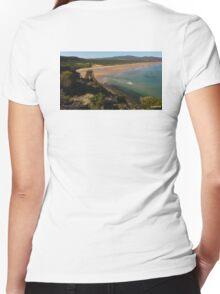 West Head - Northern Tasmanian Beach# Women's Fitted V-Neck T-Shirt