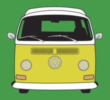 Early Bay VW Camper Front Yellow Kids Clothes