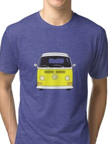 Early Bay VW Camper Front Yellow Tri-blend T-Shirt