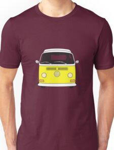 Early Bay VW Camper Front Yellow Unisex T-Shirt
