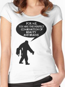 Combination of beauty and brains Women's Fitted Scoop T-Shirt
