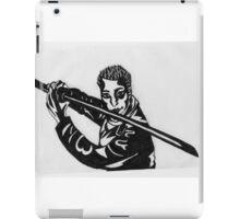 Man Holding Kendo Sword iPad Case/Skin