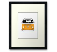 Early Bay VW Camper Front Orange Framed Print