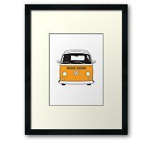 Early Bay VW Camper Front Orange Framed Print