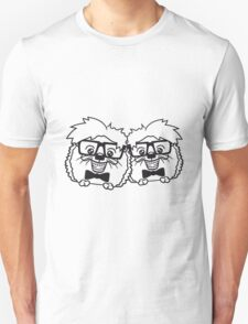 2 freunde team paar anzug fliege grinsen spange nerd geek schlau dumm intelligent freak lustig frech teenager hornbrille igel comic cartoon  Unisex T-Shirt
