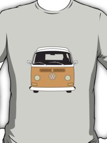 Early Bay VW Camper Front Orange T-Shirt
