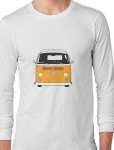 Early Bay VW Camper Front Orange Long Sleeve T-Shirt