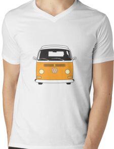 Early Bay VW Camper Front Orange Mens V-Neck T-Shirt