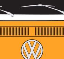 Early Bay VW Camper Front Orange Sticker