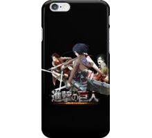 misaka, eren, and levi ready for battle iPhone Case/Skin