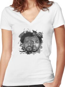 Cole and Kendrick gray Women's Fitted V-Neck T-Shirt