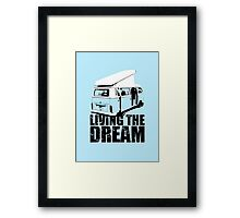VW Camper Open Roof Living The Dream Framed Print