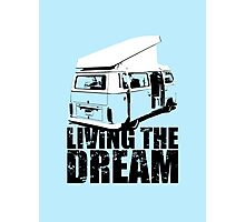 VW Camper Open Roof Living The Dream Photographic Print