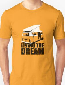 VW Camper Open Roof Living The Dream T-Shirt