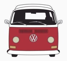 Early Bay VW Camper Front Red Kids Clothes