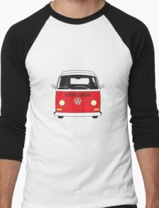 Early Bay VW Camper Front Red Men's Baseball ¾ T-Shirt