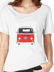 Early Bay VW Camper Front Red Women's Relaxed Fit T-Shirt