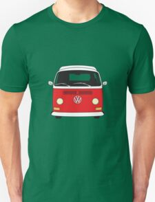 Early Bay VW Camper Front Red Unisex T-Shirt