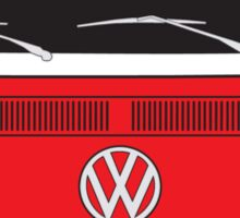 Early Bay VW Camper Front Red Sticker