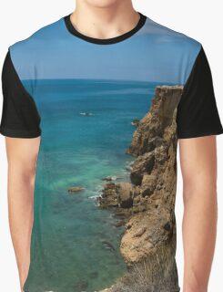 Caribbean Cliffs Graphic T-Shirt