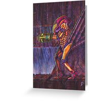 Retro Metroid Samus Arana Nintendo Greeting Card