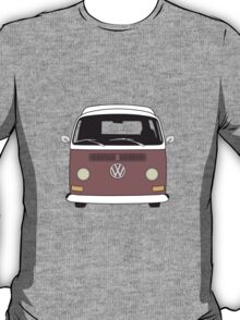 Early Bay VW Camper Front Brown T-Shirt
