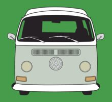Early Bay VW Camper Front Pale Green Kids Clothes