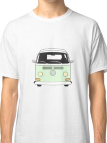 Early Bay VW Camper Front Pale Green Classic T-Shirt